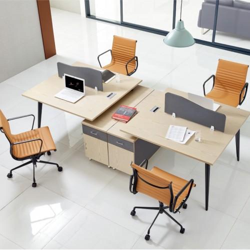 香河定制屏风职员桌厂家 办公桌屏风价格7C-13
