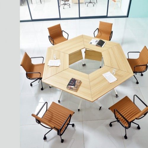 香河定做板式会议桌厂家 商务会议桌价格 T-002
