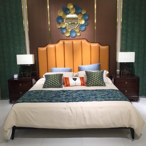 轻奢时尚卧室双人床意式极简双人床_床Z505-1