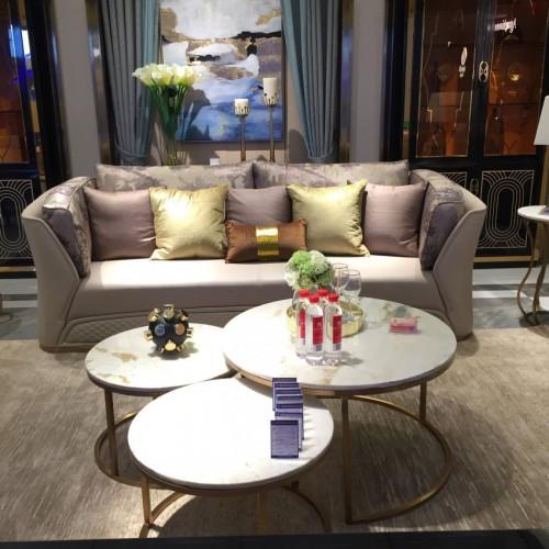 时尚轻奢极简客厅三人位沙发圆茶几电视柜_沙发Z507SF-3