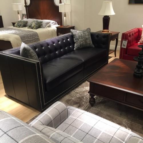 简约美式客厅沙发茶几电视柜组合软皮三人位沙发_三人位UP10803B