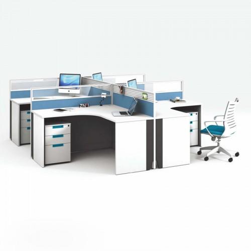 职员屏风办公桌 屏风工作位厂家V-WA2828A2