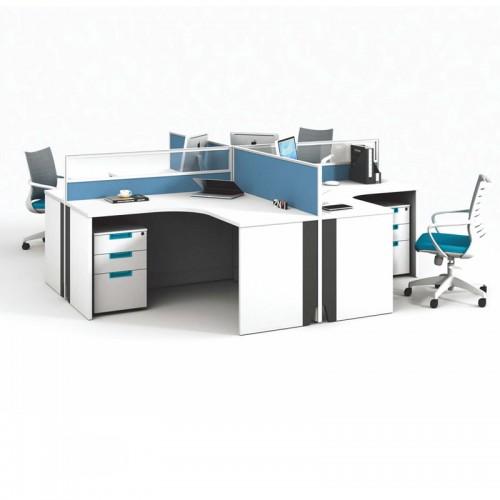 简约屏风办公桌定制 板式屏风工作位V-WE2828B2