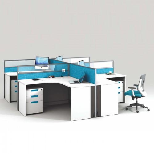 定制屏风职员办公桌厂家 屏风工位电脑桌尺寸V-WA2828B1