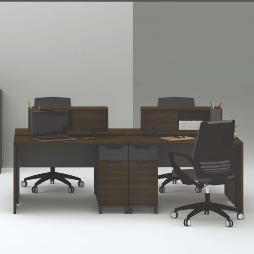 屏风工作位价格 屏风办公桌定做X-WA1212