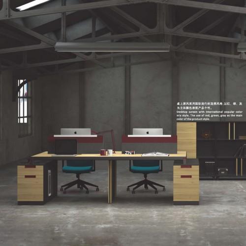 屏风职员办公桌采购 板式屏风工位价格 K-WB2412B
