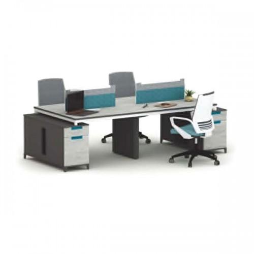 职员屏风桌定制厂家 屏风隔断采购做价格 M-WD2812