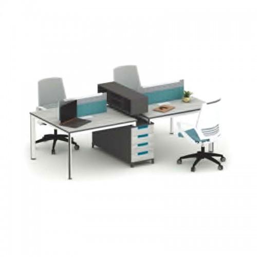 四人位组合屏风卡位隔断办公桌 M-WB2612