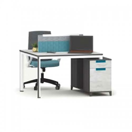 屏风隔断工作位 双人职员屏风办公桌 M-WC1412
