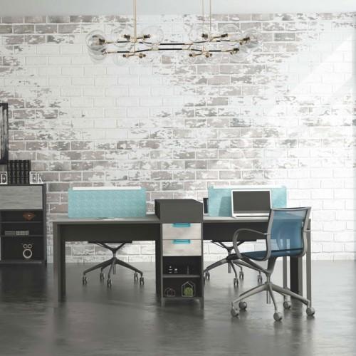 屏风隔断办公桌简约现代职员电脑桌 M-WE2812