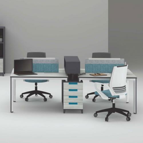 办公区屏风工作位 员工屏风办公桌价格 M-WB2612