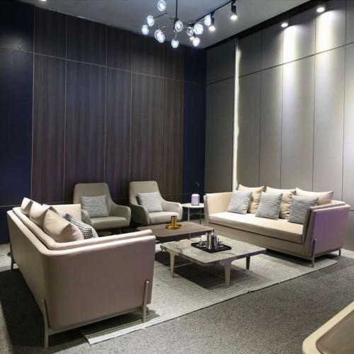 现代办公沙发时尚简约会客沙发茶几定制S1881-3