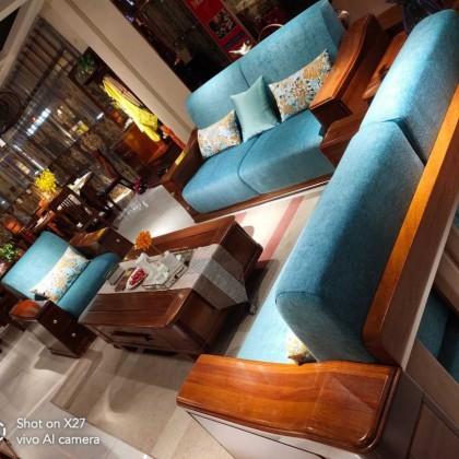实木中式沙发