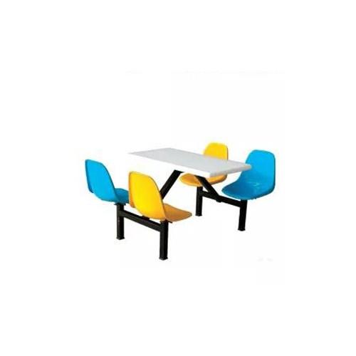 食堂连体餐桌椅四人位餐桌椅低价促销C-003#