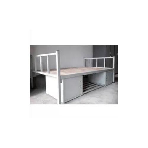 学生单人床带柜铁床钢制宿舍床直销C-001#