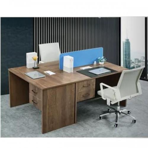 双人屏风工作位隔断办公桌价格  桌屏#