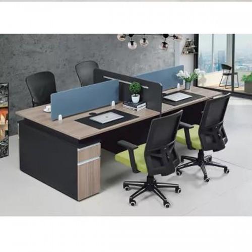 办公区屏风隔断桌批发价格Z-6124#