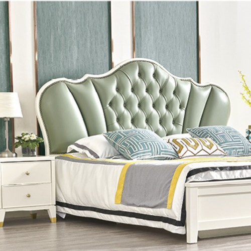 板式卧室套房家具 北欧风格双人床 MK-804