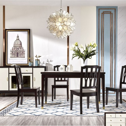 简约长方形餐桌椅别墅餐厅餐桌椅定制 MK-819