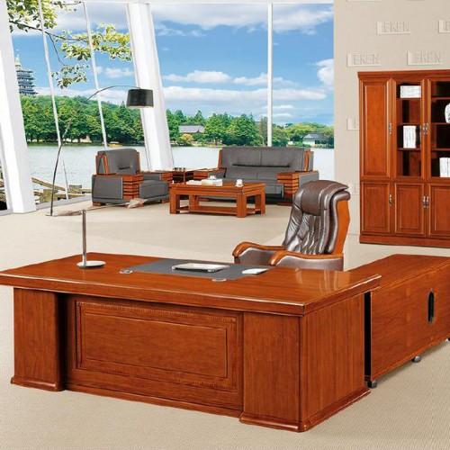 定制中式实木办公桌大班台老板桌 LT243Z#