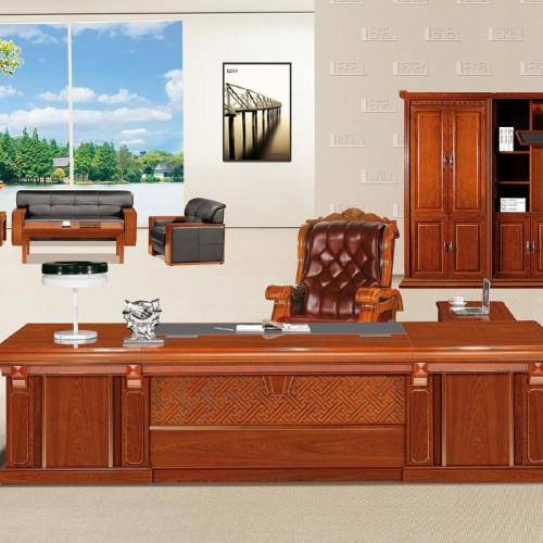 实木总裁桌批发厂家 油漆班台桌采购价格 LT3292#