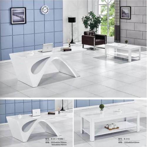 板式办公家具品牌现代简约主管桌 B-01(可定制)#