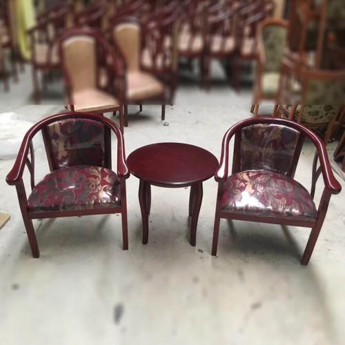 宾馆实木休闲椅洽谈桌椅圈椅 002#