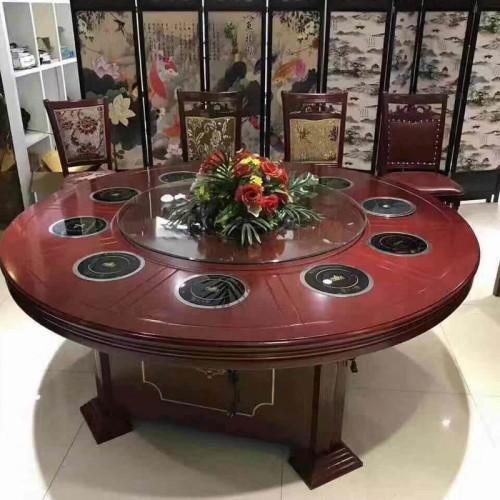 电磁炉一体饭店餐桌带转盘 004#
