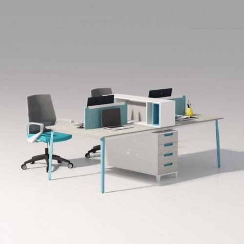 屏风工作位职员隔断电脑办公桌40#