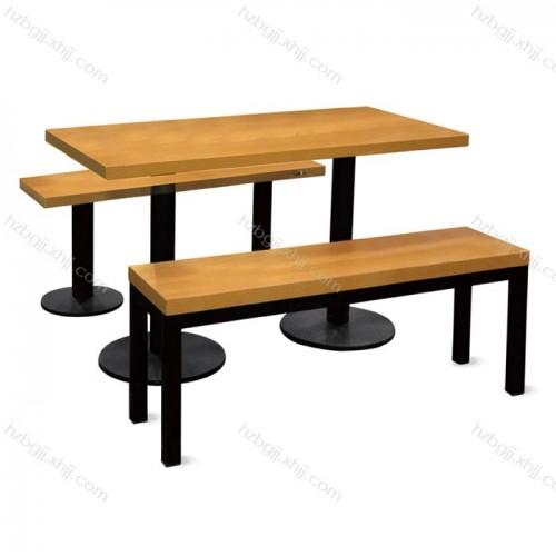 厂家直销食堂餐桌椅四人位直条餐桌餐凳21#