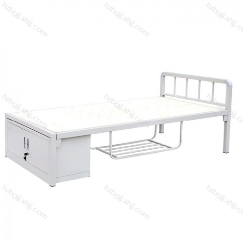 单人铁床带储物柜单层床可订做09#