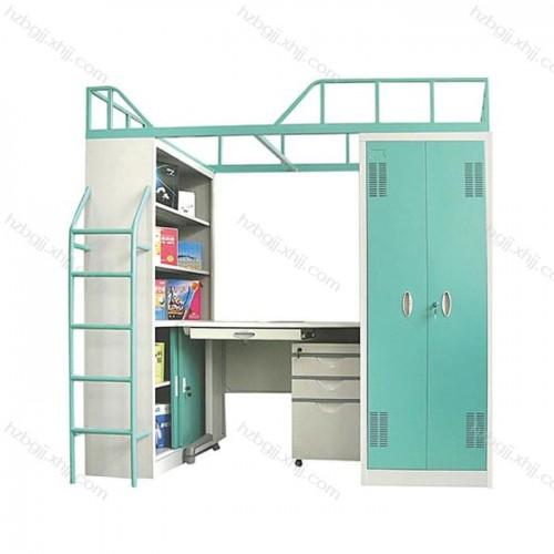 大学生宿舍上床下桌公寓床带组合柜 厂家直销14#
