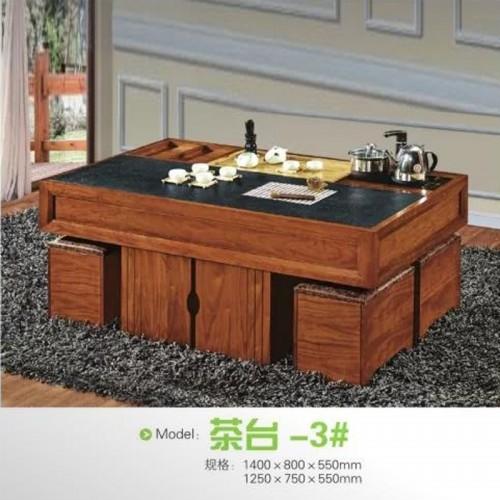 现代中式功夫茶桌椅组合定制茶艺桌 茶台-3#