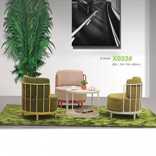 北欧风铁艺沙发工作室休闲沙发定制  X033#