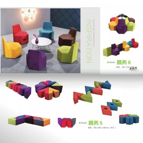 公共场所异形休闲组合沙发    商务6#