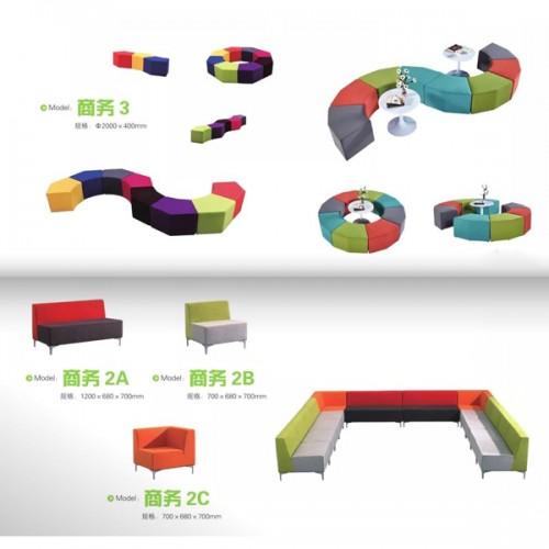 生产定制创意沙发拼接组合沙发    商务3#