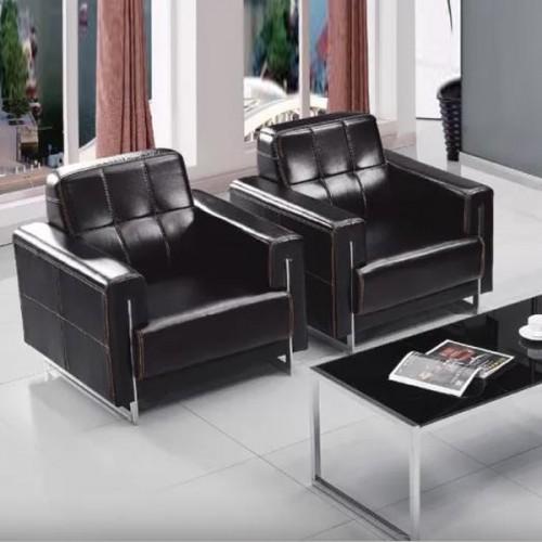 皮质沙发简约会客商务接待沙发厂家8116#