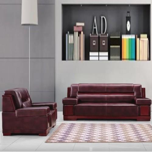 低价销售办公沙发商务接待真皮沙发8001#