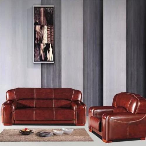 真皮办公沙发会客沙发经典商务沙发8022#