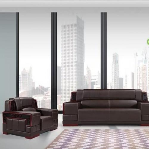 新中式高端办公沙发真皮商务沙发价格889#