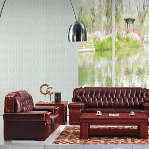 商务现代办公沙发真皮洽谈沙发A06#