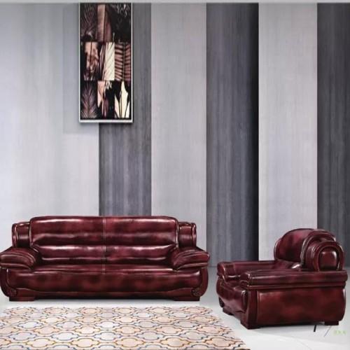 新款热销真皮沙发办公会客沙发A08#