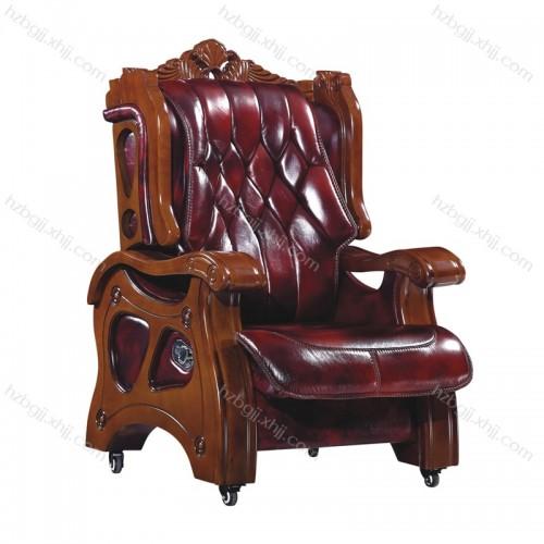 实木老板椅真皮大班椅总裁椅27#