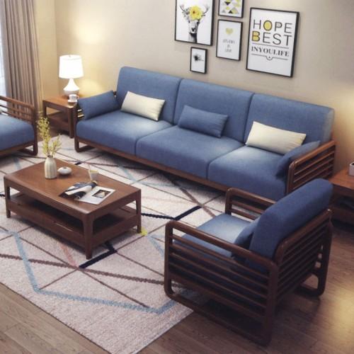 布艺沙发1+2+3组合 别墅简美客厅家具 002-4#