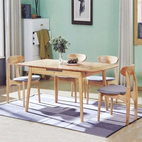 主题餐厅桌椅 胡桃木日式家具 新蹦桌#