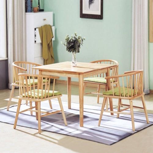 客厅家用饭桌 小型桌椅套装 小方桌#
