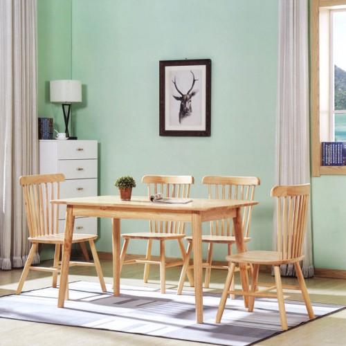 可定制全实木桌椅 原木色休闲桌椅 B-17#