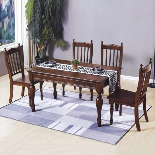 酒店就餐桌椅组合家具 实木家具生产厂家 小美直角桌#