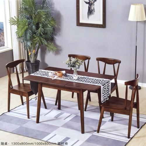 小美式实木餐桌 家用靠背餐椅 蹦桌#
