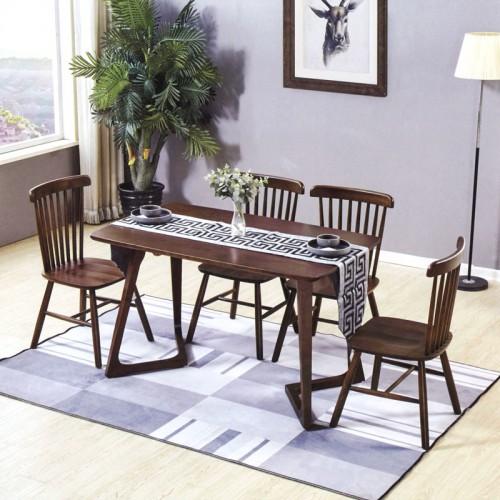 餐厅小美式桌椅组合 小居室实木家具 B-15#